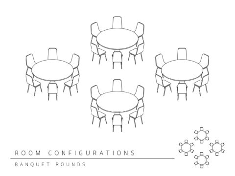 Conference room layout - banquet rounds