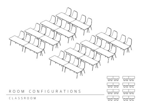 Conference room layout - classroom