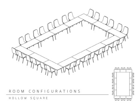 Conference room layout - hollow square