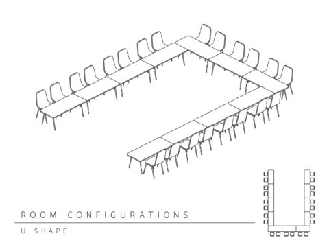Conference room layout - U shape